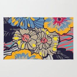 Big bright flowers Rug