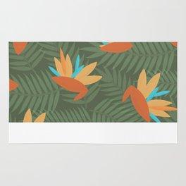 Vintage Florida Birds of Paradise Pattern Rug