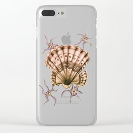 Dystopian Conch - Lavender Clear iPhone Case