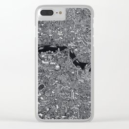 London map black and white Clear iPhone Case