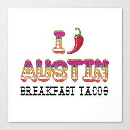 I chile Austin Canvas Print
