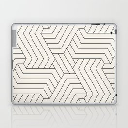 Off-White Interlaced Seamless Pattern Laptop & iPad Skin