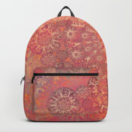 """Coral & Rosewood Mandala (pattern)"" Backpack"