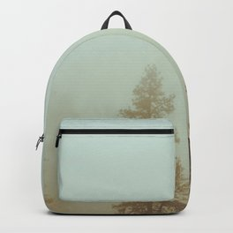 Pastel Green Adventure Forest Nature Photography Backpack