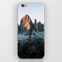 Dolomites sunset panorama - Landscape Photography iPhone Skin