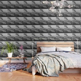 Volcano black and white Wallpaper