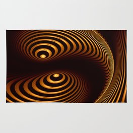 Abstract in copper tones Rug