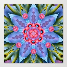 Flower of Sevens Mandala Canvas Print