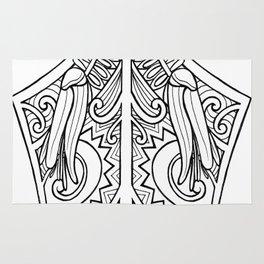 Huia Maori Art Kowhai Flower Rug
