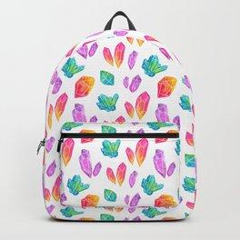 Watercolor Crystals Backpack