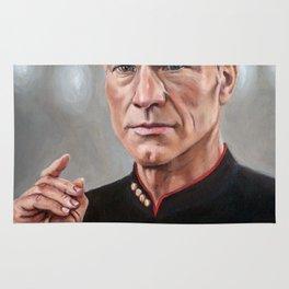 Captain Picard - Portrait Painting Rug