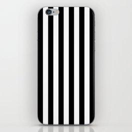 Parisian Black & White Stripes (vertical) iPhone Skin