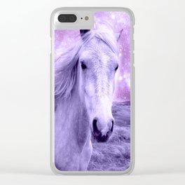 Lavender Horse Celestial Dreams Clear iPhone Case
