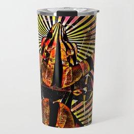 6141-KMA Powerful Woman Brings Life Sensual Abstract Art Travel Mug