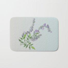 Purple Tiny Flowers Bath Mat