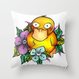 Psyduck being PsyCute Throw Pillow