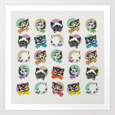 Cats & Bowties Art Print