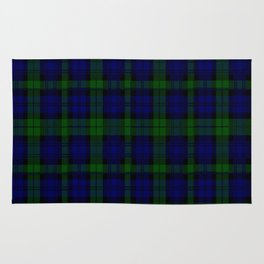 "CAMPBELL CLAN  ""BLACK WATCH"" SCOTTISH  TARTAN DESIGN Rug"