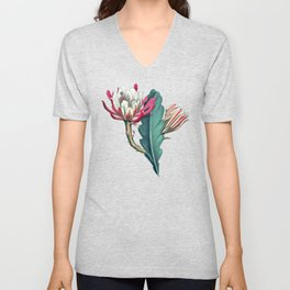 Flowering cactus IV Unisex V-Neck