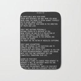 The Four Agreements #minimalist 2 Bath Mat