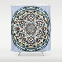 seashell Shower Curtains featuring Seashell Orb by Cindi Ressler Photography