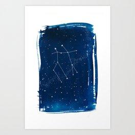 Gemini Zodiac Print Art Print