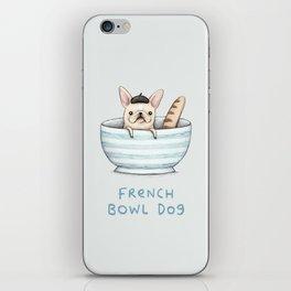 French Bowl Dog iPhone Skin