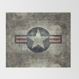 Stylized US Air force Roundel Throw Blanket