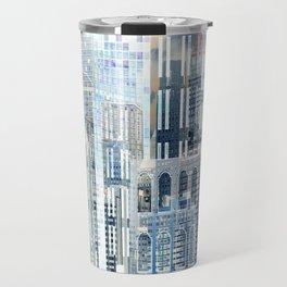 Blue City Scape Travel Mug