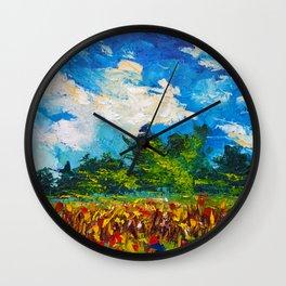 Waikato Corn Field - Summer Landscape of New Zealand Wall Clock