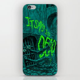 It Says Its Dead Poster Art iPhone Skin