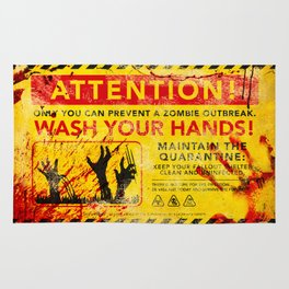Prevent Zombie Outbreak: Wash your hands! Rug