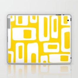 Retro Mid Century Modern Abstract Pattern 335 Yellow Laptop & iPad Skin