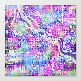 minneapolis city map Canvas Print
