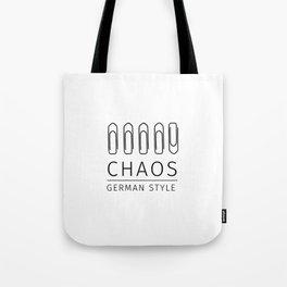 Chaos: German Style Tote Bag