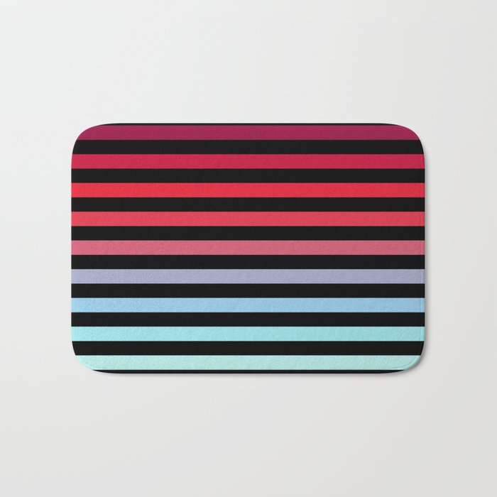 Rainbow Stripes #5 Bath Mat