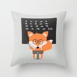 Teacher Fox Throw Pillow
