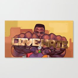 Love and Hate Canvas Print