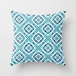 Shibori Watercolour no.7 Turquoise Throw Pillow