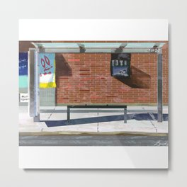 The Bus Stop Metal Print