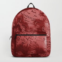 Russia in Red Backpack