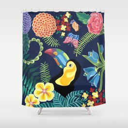 Natures Confetti Toucan Shower Curtain