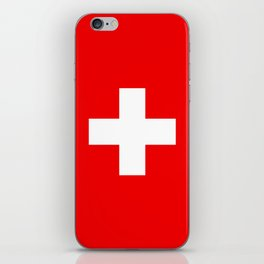 Flag of Switzerland - Authentic (High Quality Image) iPhone Skin