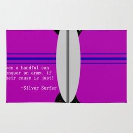 Silver Surfer Lingo Rug