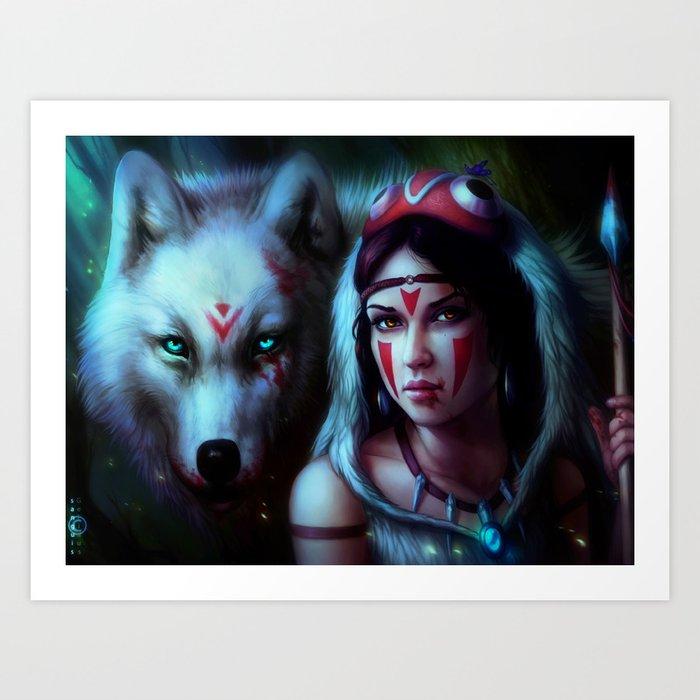 Mononoke Night Art Print