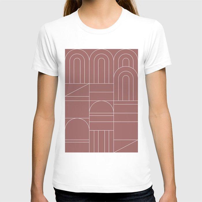 Deco Geometric 04 Dark Pink T-shirt