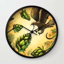 Screaming Eagle and Raging Hops (Warm) Wall Clock