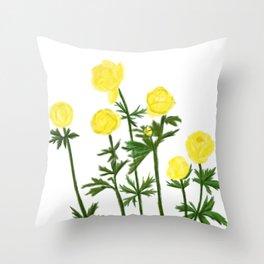 Trollius Europaeus Throw Pillow