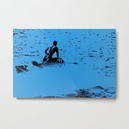 Blue Waters - Jet Ski Fun Metal Print