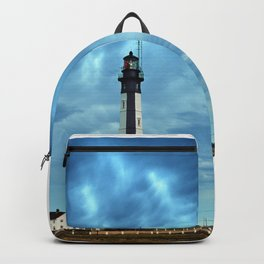 New Cape Henry Lighthouse Under Ominous Clouds Backpack